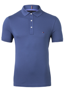 Tommy Hilfiger Slim polo, blauw Faded Indigo