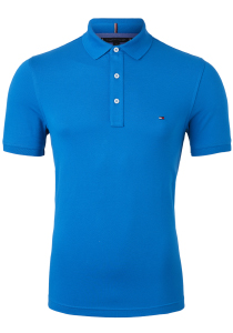Tommy Hilfiger Slim polo, blauw regatta blue