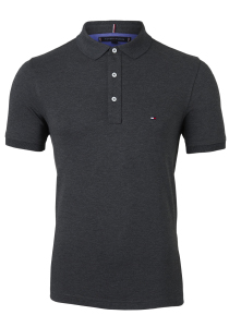 Tommy Hilfiger Slim polo, antraciet Black Heather