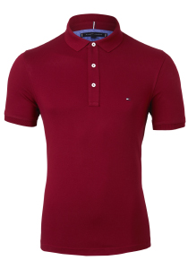 Tommy Hilfiger Slim polo, rood Regatta Red