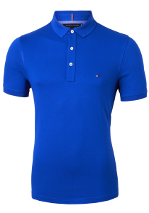 Tommy Hilfiger Slim polo, blauw Phthalo Blue