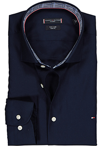 Tommy Hilfiger overhemd Slim Fit, blauw twill (contrast)