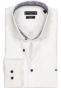Tommy Hilfiger overhemd Slim Fit, wit twill (contrast)