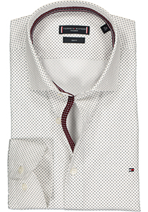 Tommy Hilfiger overhemd Regular Fit, wit met zwart mini dessin (contrast)