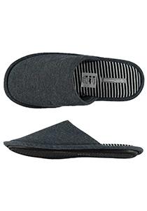 Pantoffels heren, grijze slof tricot