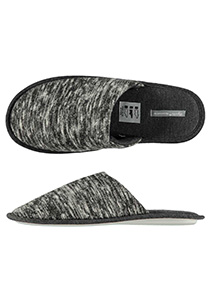 Pantoffels heren, grijze melange slof tricot