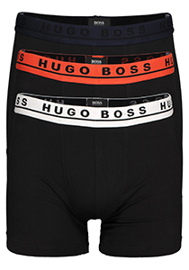 Hugo Boss boxer briefs (3-pack), zwart met gekleurde band