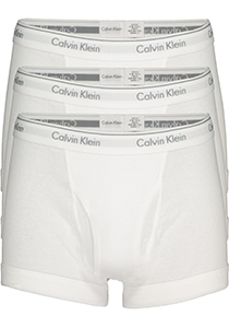 Calvin Klein Trunks (3-pack), wit met gulp