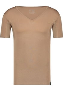 RJ Bodywear Sweatproof T-shirt diepe V-hals (oksels), huidskleur