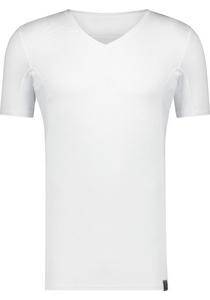 RJ Bodywear Sweatproof T-shirt V-hals (oksels en rug), wit