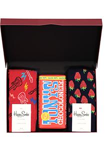 Happy Chocolade cadeauset; Rock-'n-aardbei