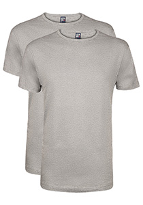 Alan Red T-shirts Derby (2-pack), O-hals, grijs gemêleerd