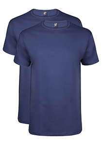 Alan Red T-shirts Derby (2-pack), O-hals, kobalt blauw