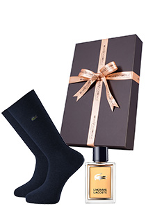 Heren cadeaubox: Le homme Lacoste parfum met Lacoste sokken in cadeaubox