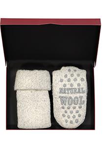 Homepads sokken wol, grijs (in cadeauverpakking)