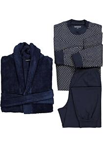 Schiesser cadeauset, heren badjas en pyjama, blauw