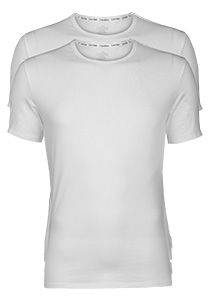 Calvin Klein Modern Cotton stretch T-shirts (2-pack), O-hals, wit
