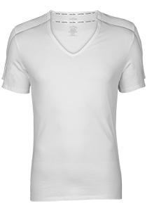 Calvin Klein Modern Cotton stretch T-shirts (2-pack), V-hals, wit
