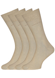 Hugo Boss, 2-pack RS uni, herensokken, beige