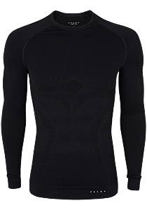 Falke maximum warm, thermo T-shirt lange mouw, zwart