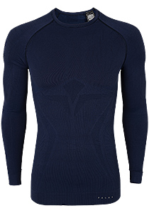 Falke maximum warm, thermo T-shirt lange mouw, blauw