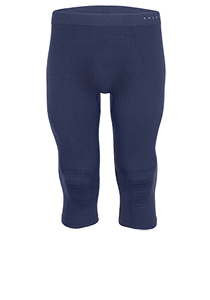 Falke maximum warm, thermo broek 3/4, blauw