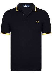 Fred Perry M3600 shirt, polo Black / Bright Yellow / Bright Yellow