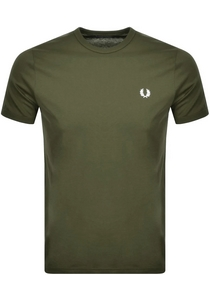 Fred Perry Ringer T-shirt, Military Green