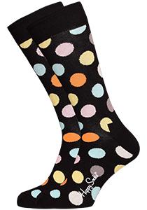 Happy Socks herensokken Big Dot Sock zwart met kleur