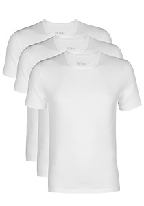 3-pack: Hugo Boss T-shirts Regular Fit, O-hals, wit