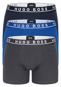 Hugo Boss boxer brief (3-pack), kobalt, navy en grijs
