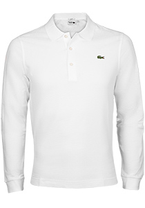 Lacoste Sport polo lange mouw Slim Fit, wit