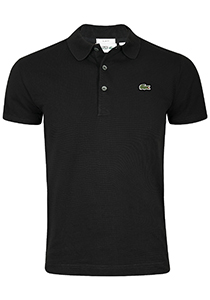 Lacoste Sport polo Slim Fit, zwart (ultra lightweight knit)