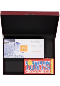 Heren cadeaubox altijd goed: Tony's Chocolonely Melk met Cadeaubon