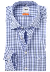 OLYMP Modern Fit overhemd, blauw geruit