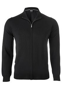 OLYMP heren vest wol, zwart (met rits)