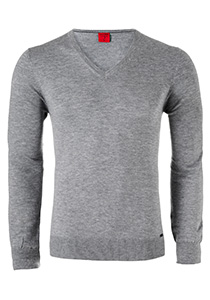 OLYMP Level 5, heren trui wol, grijs (Slim Fit)