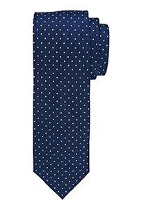 Michaelis stropdas, marine blauw witte stippen