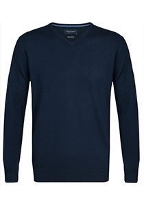 Profuomo Originale Slim Fit, heren trui wol, blauw