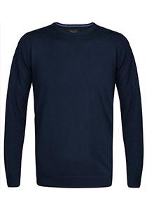 Profuomo Originale Slim Fit, heren trui wol, navy blauw