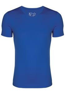 RJ Bodywear Pure Color, T-shirt V-hals, kobalt blauw