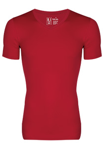 RJ Bodywear Pure Color, T-shirt V-hals, donkerrood (micro)