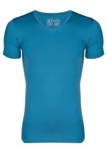 RJ Bodywear Pure Color, T-shirt V-hals, petrol (micro)