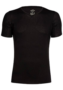RJ Bodywear The Good Life, Sweatproof T-shirt oksel, zwart