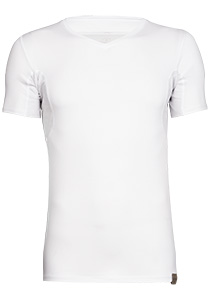RJ Bodywear The Good Life, Sweatproof T-shirt oksel en rug, wit