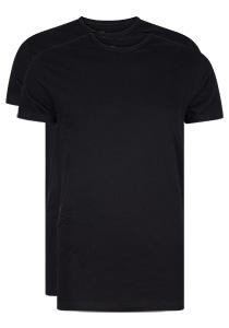 RJ Bodywear Everyday Rotterdam 2-pack T-shirt O-hals smal, zwart