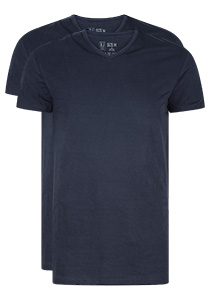 RJ Bodywear Everyday, Gouda, 2-pack, T-shirt V-hals smal, donkerblauw
