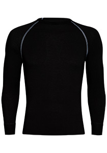 RJ Bodywear, Thermo Cool, T-shirt lange mouw, zwart