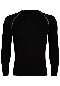 RJ Bodywear, Thermo Cool, T-shirt lange mouw, zwart