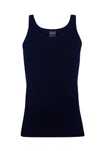 Schiesser Original Feinripp, heren ondergoed, Singlet blauw